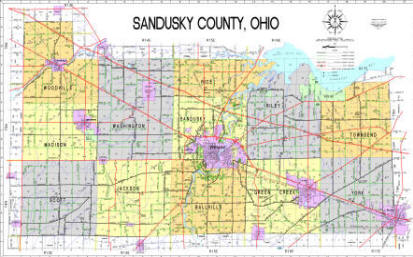 Sandusky County Map